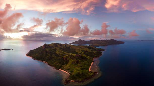 Las Islas Fiji, Yasawa Sunset - foto de stock