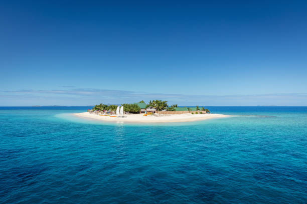 Fiji Mamanuca Islands Beautiful Small Islet stock photo