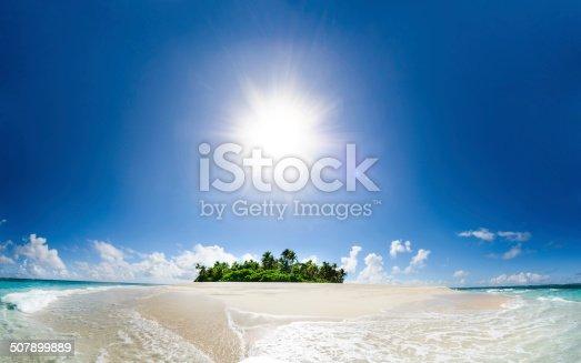 Remote tropical island in Fiji, a true paradise