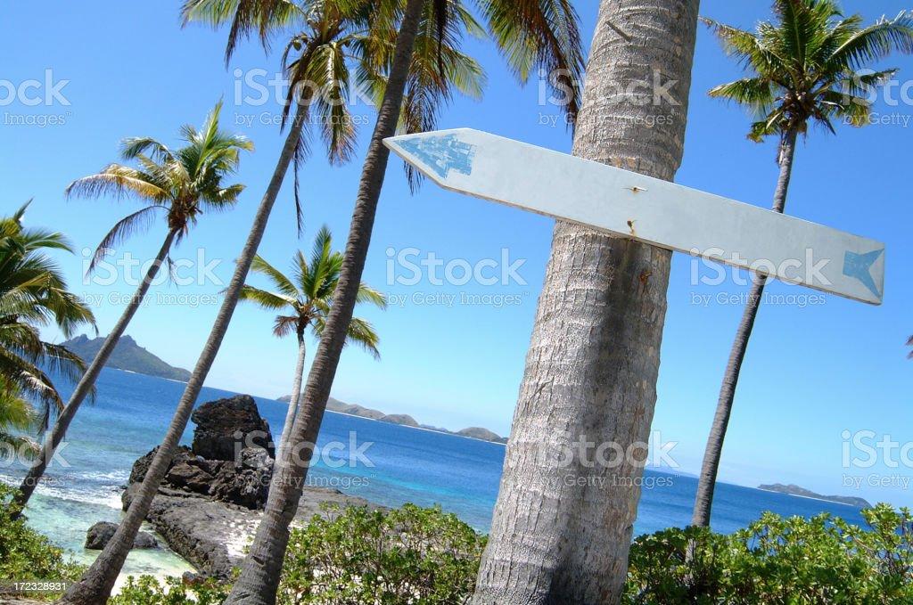 Fiji Postcard royalty-free stock photo