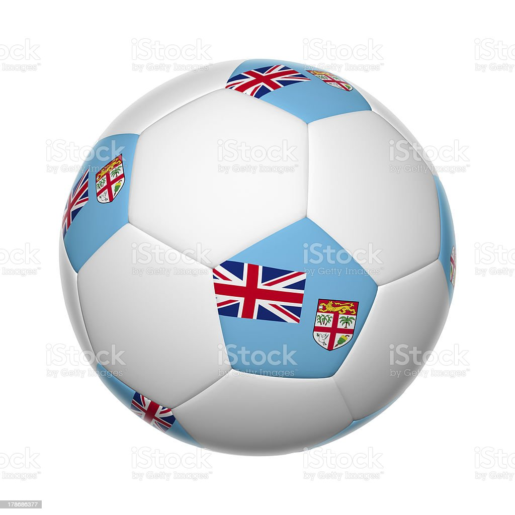 Fiji soccer ball stock photo