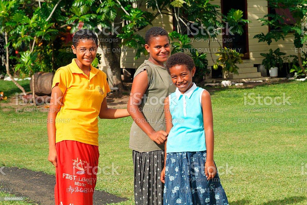 Fiji-people stock photo