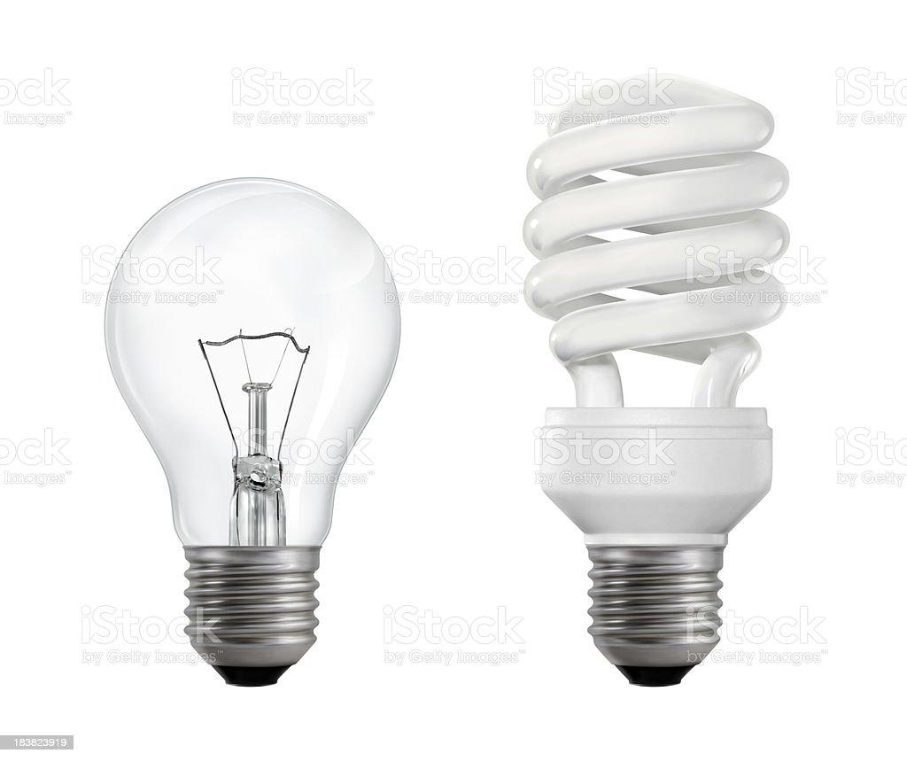 Glühfaden und fluoreszierend Lightbulbs – Foto