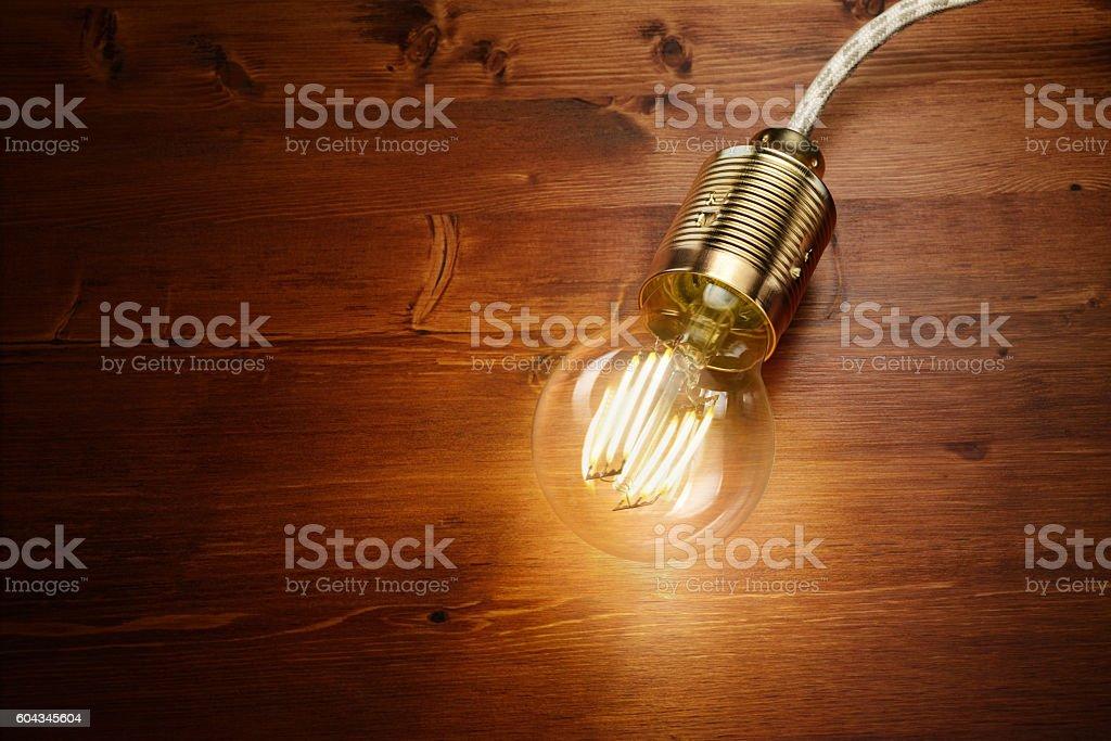 LED filament classic  bulb stock photo