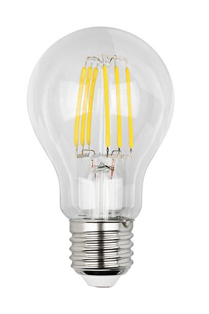 filament led bulb - glühbirne e27 stock-fotos und bilder