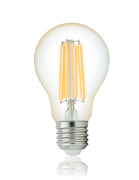 led filament glühbirne - glühbirne e27 stock-fotos und bilder
