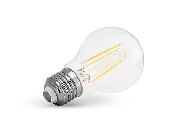 led glühbirne (e27) filament - glühbirne e27 stock-fotos und bilder