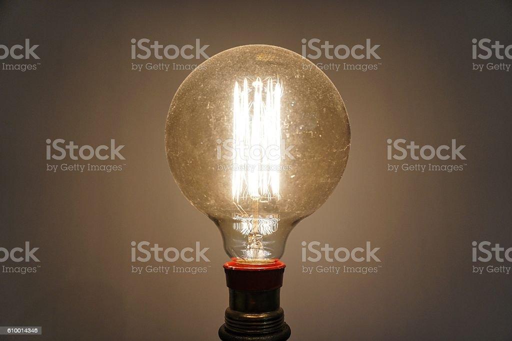 Filament Light Bulb stock photo