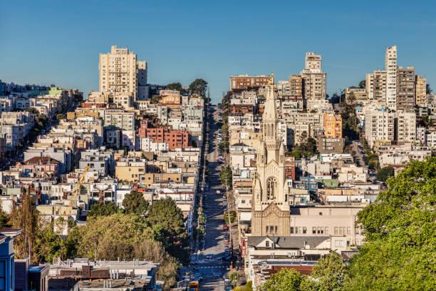 Filbert Street, San Francisco stock photo