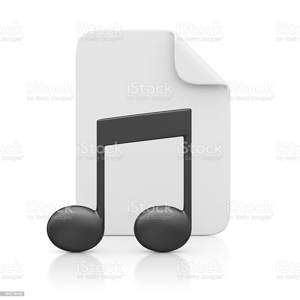 file and musical note stock photo