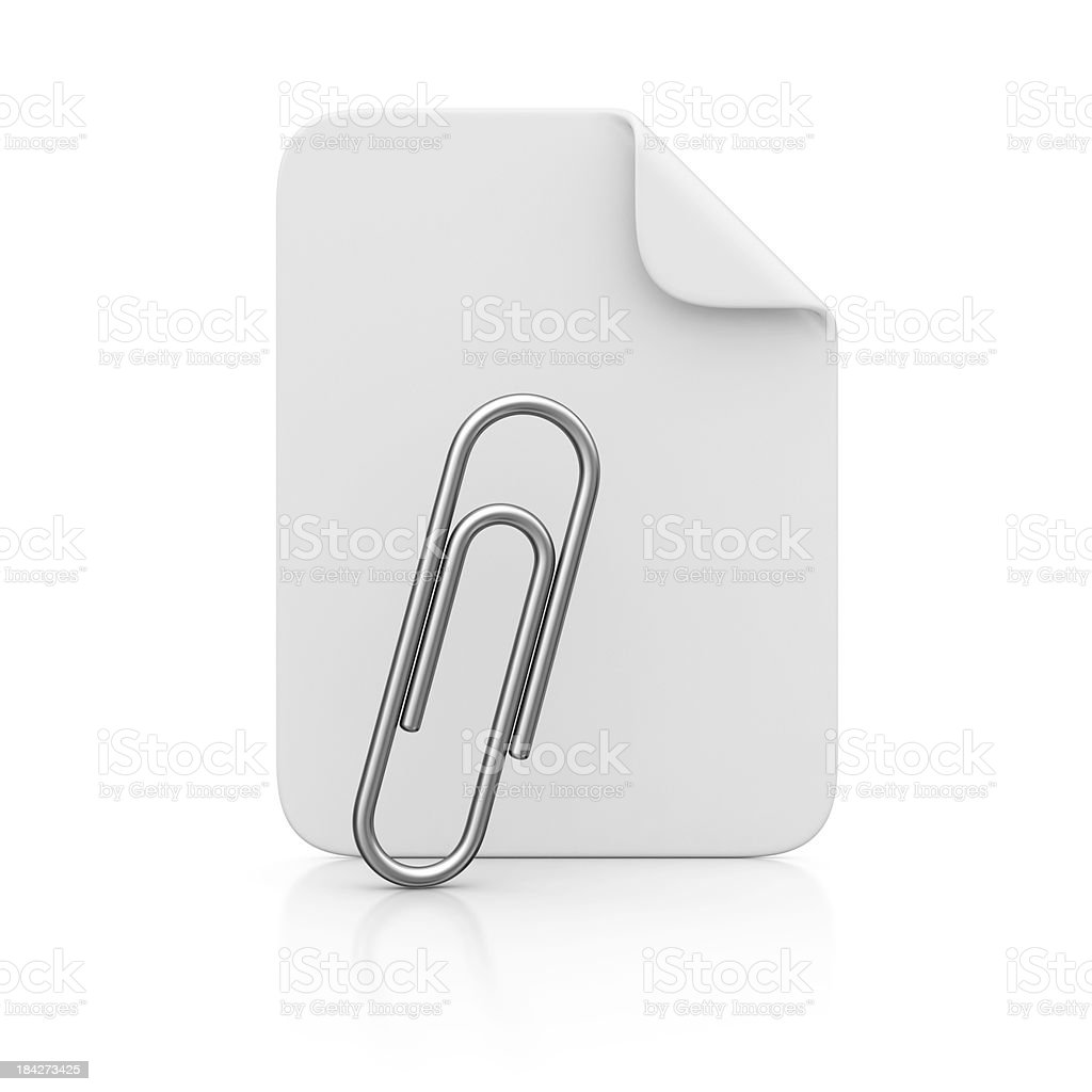 file and paper clip royalty-free stock photo