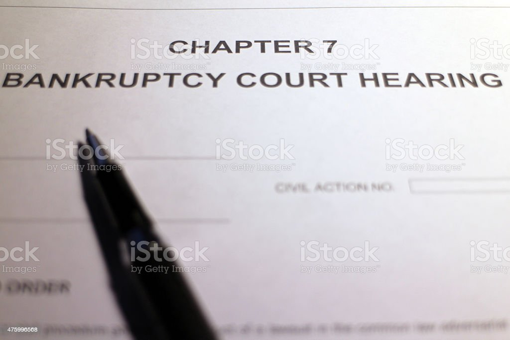 File Bankruptcy stock photo