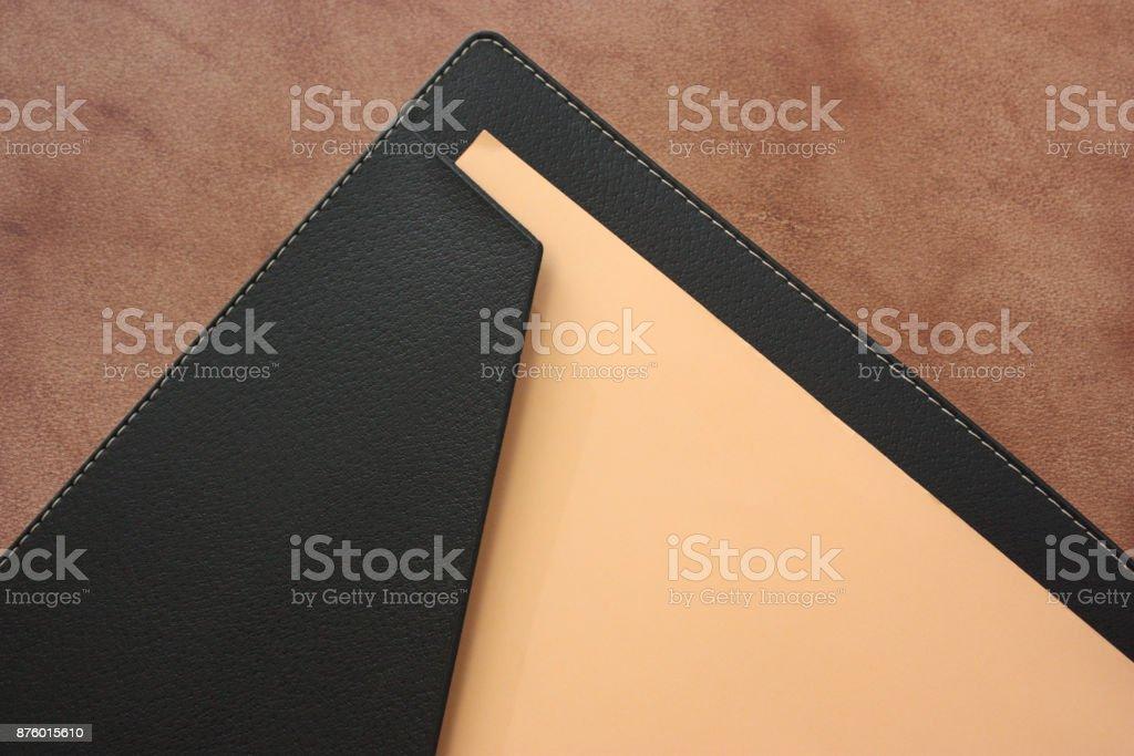 File black leather - Foto stock royalty-free di Ambientazione interna