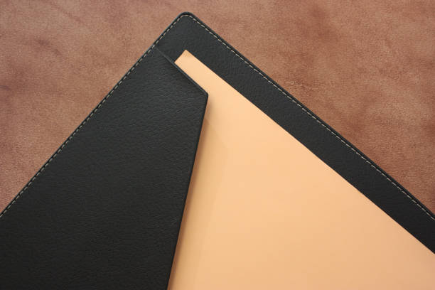 Cтоковое фото File black leather