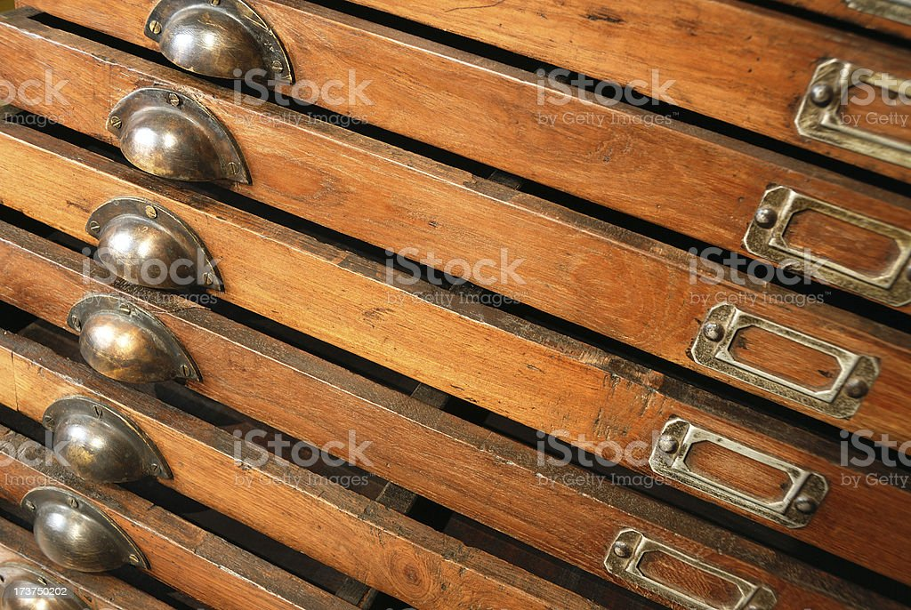 File cabinet detail royalty-free stock photo