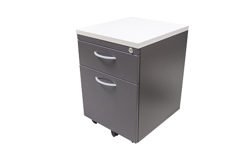 file cabinet for keeping important documents in the work office, isolated with white background.