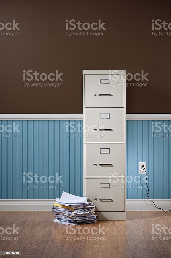 File Cabinet In Empty DomesticRoom royalty-free stock photo