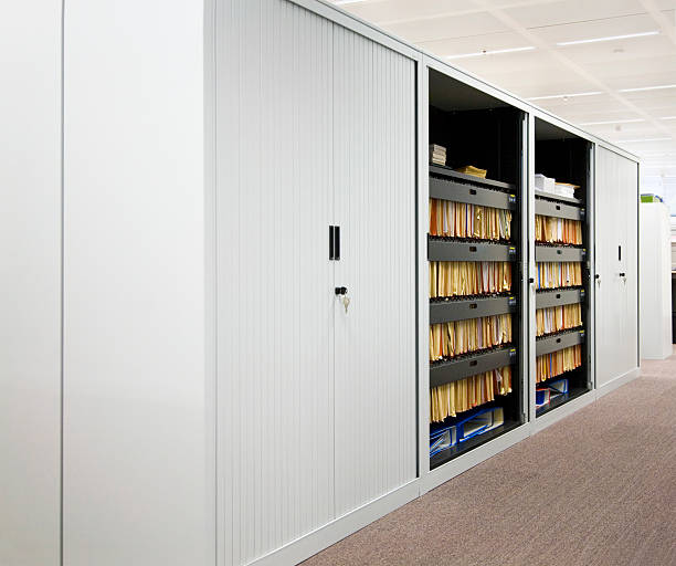 File cabinet in office stock photo