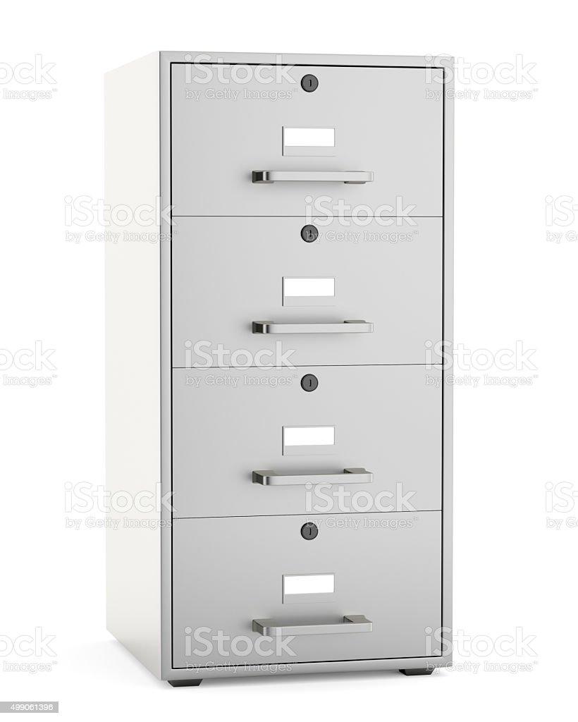 Aktenschrank, isoliert auf weißem Hintergrund – Foto