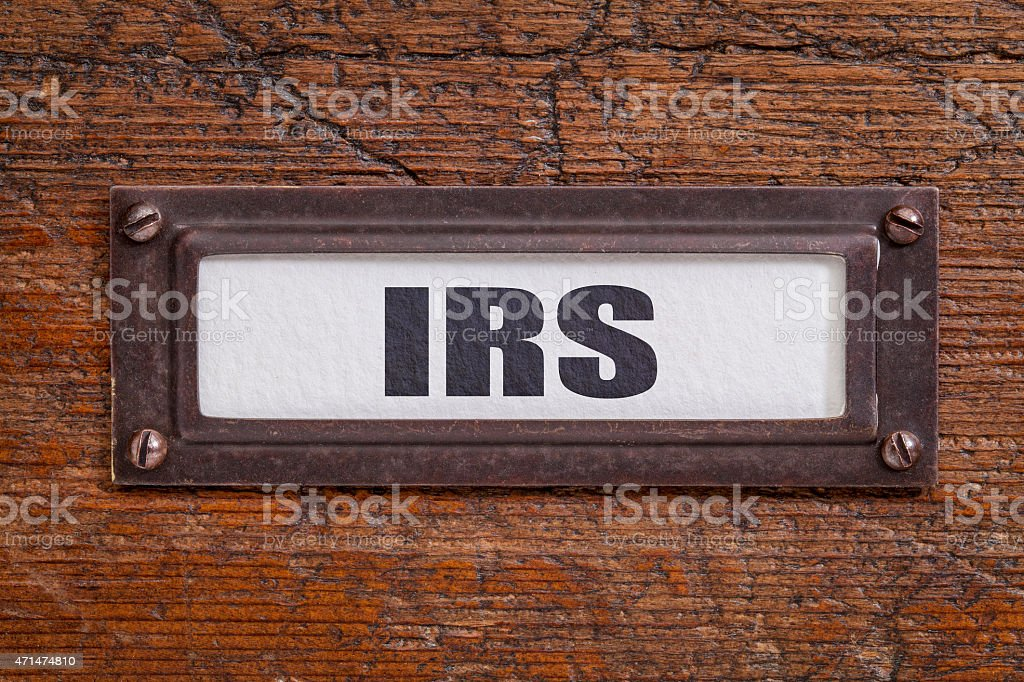 IRS - file cabinet label stock photo