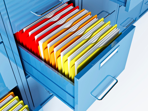 File Cabinet Stock Photo - Download Image Now