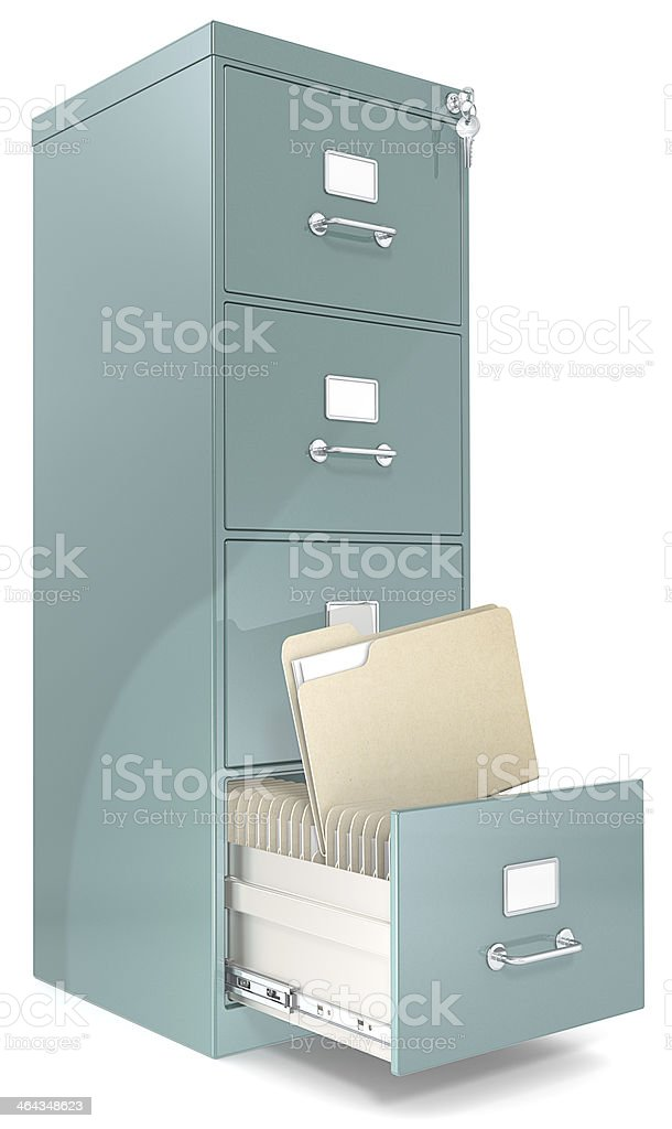 File Cabinet. royalty-free stock photo