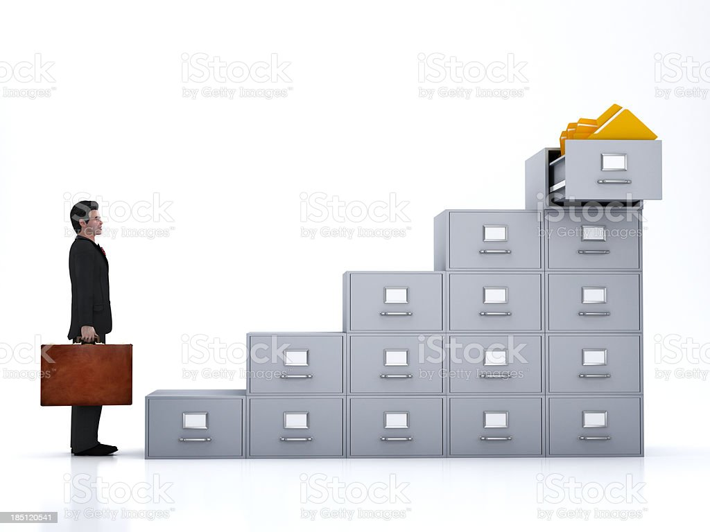 File cabinet staircase royalty-free stock photo