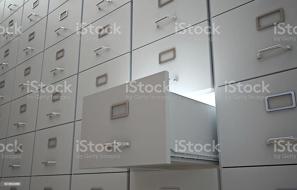 Aktenschrank mit eine Schublade öffnen – Foto