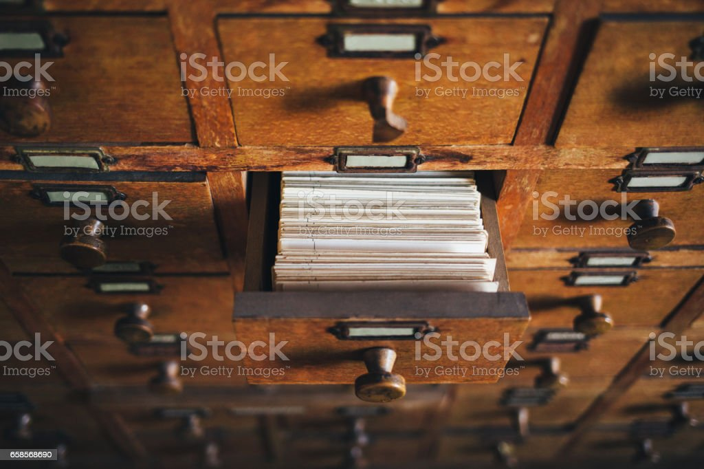 File catalog box stock photo