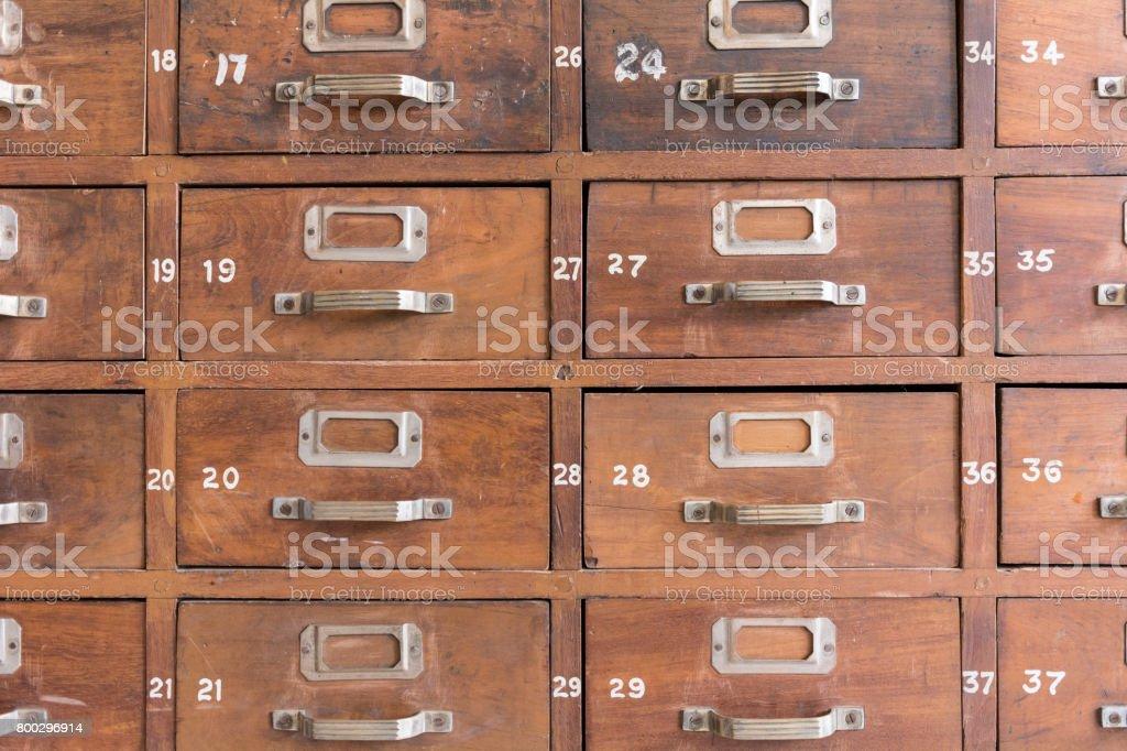 File catalog cabinet stock photo