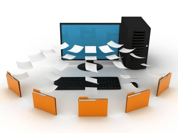 Dossier de sécurité du dossier données volumineuses internet réseau - Photo