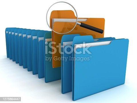 File folder document data archive storage