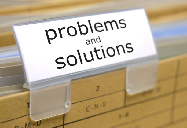 file folder in office for problems and solutions - contributor stock pictures, royalty-free photos & images