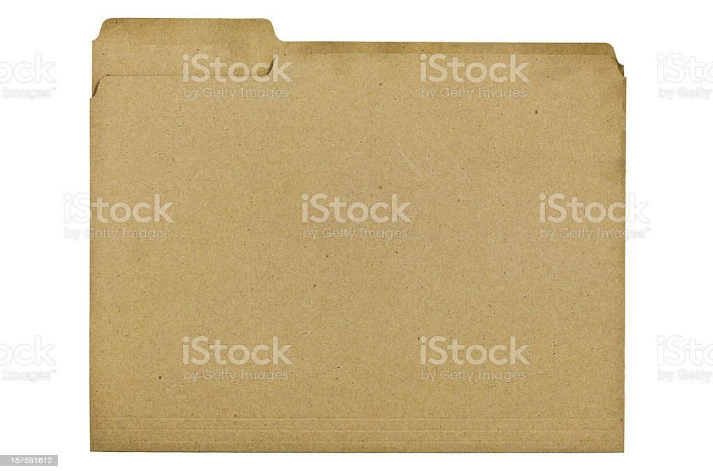 File Folder Made of 100 Percent Recycled Fiber royalty-free stock photo