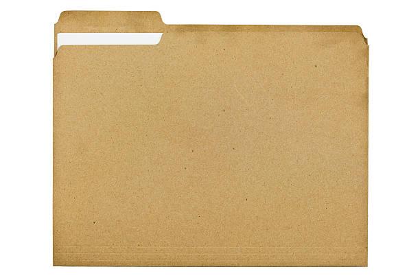 Dateiordner besteht zu 100 Prozent aus Recycling-Faser mit Dokument – Foto