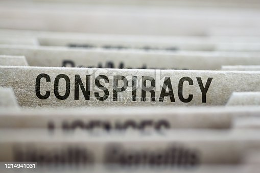 File folder of conspiracy theories