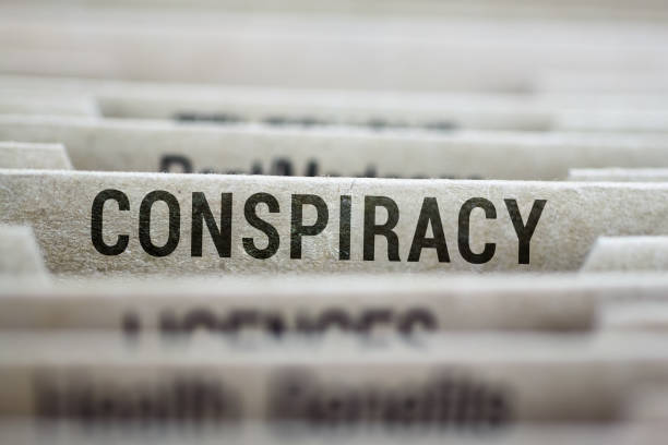 File folder of conspiracy theories stock photo