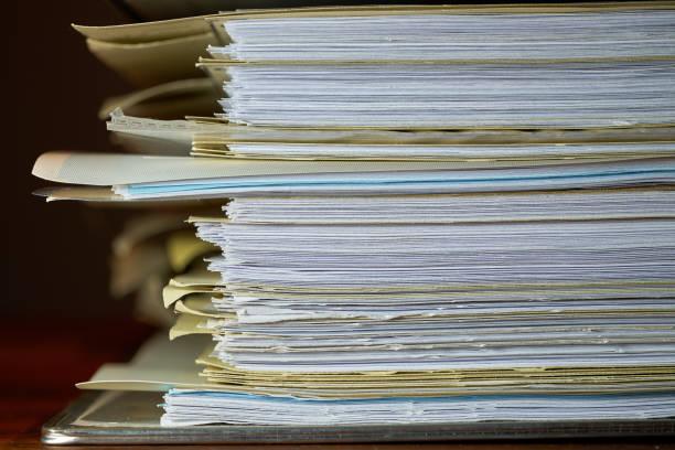 Datei-Ordner auf dem Schreibtisch – Foto