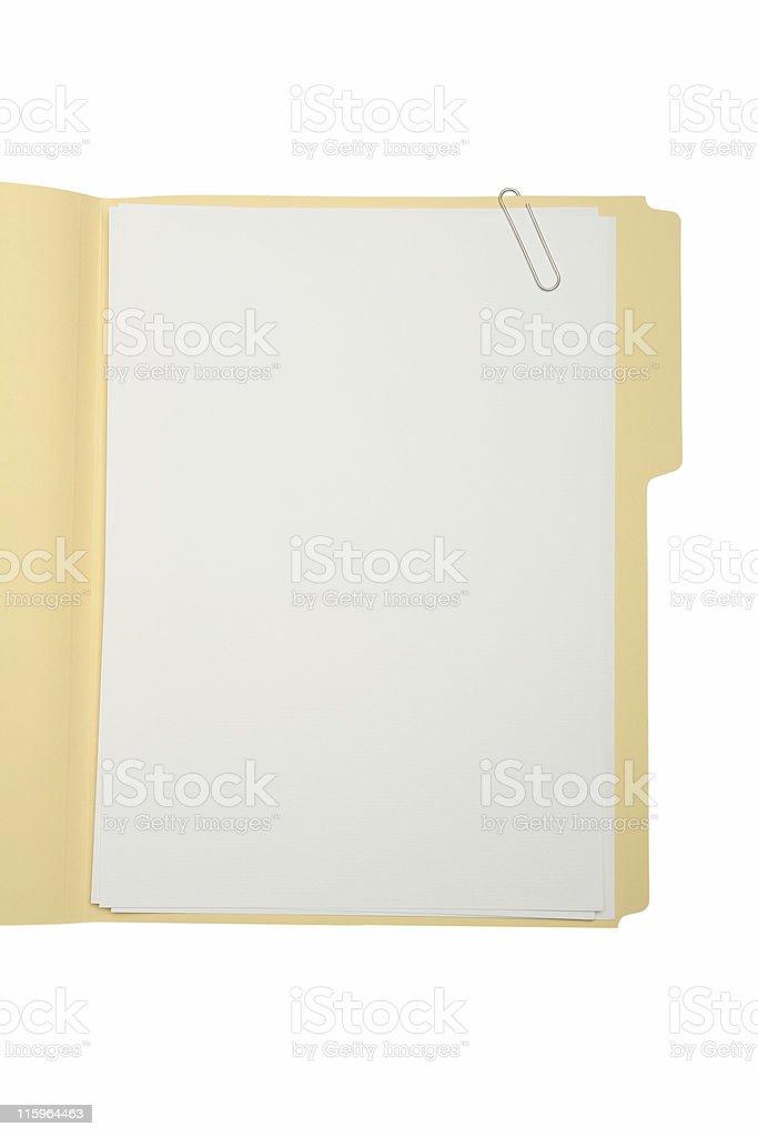 File Folder royalty-free stock photo
