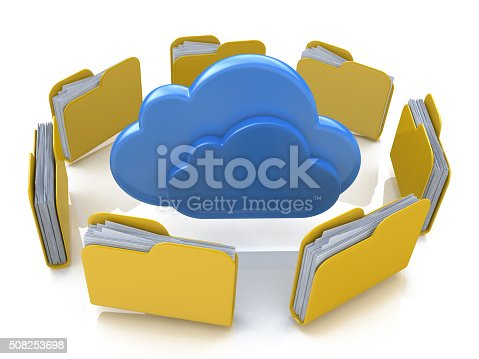 462138083istockphoto File folders around clouds 508253698