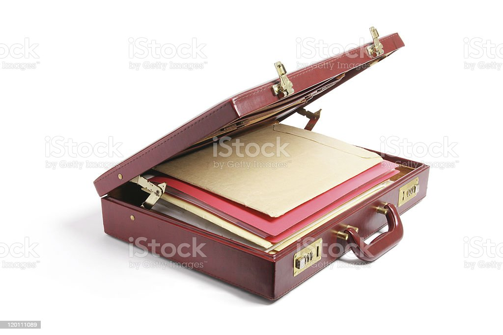 File Folders in Briefcase stock photo