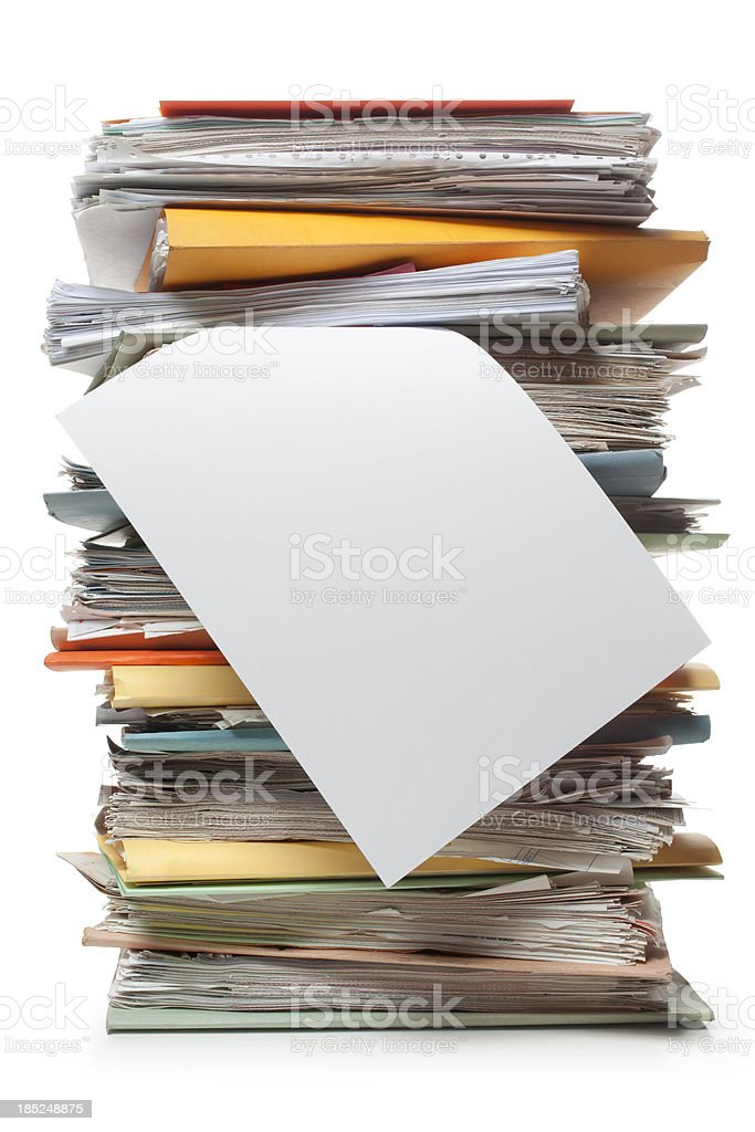 File folders stock photo