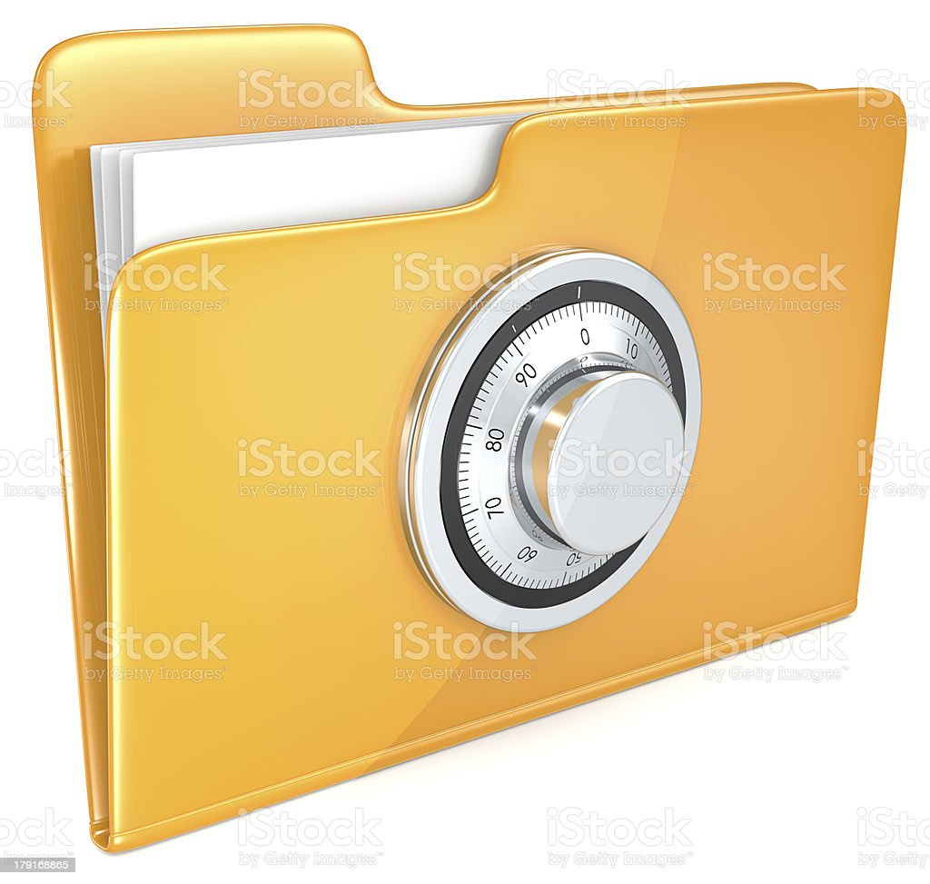 File protection. royalty-free stock photo