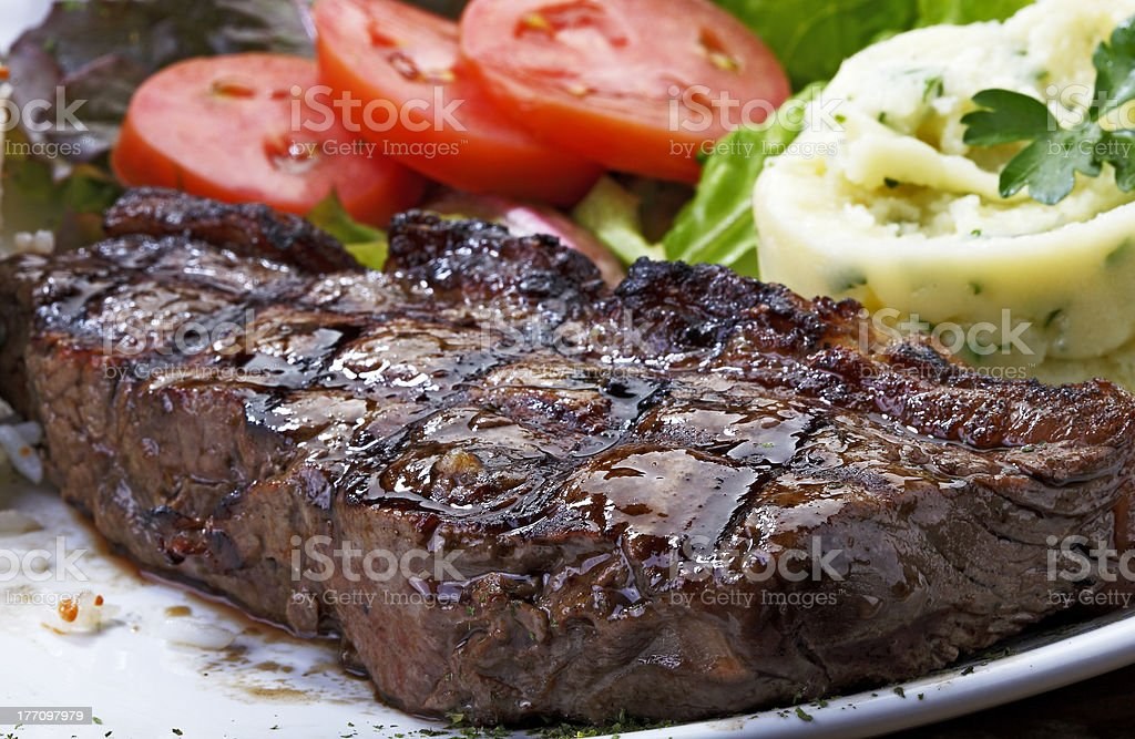 file roast on the grill royalty-free stock photo