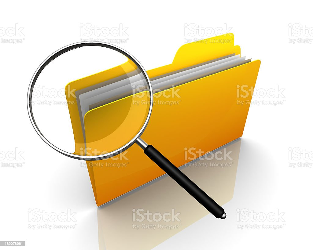 File Search royalty-free stock photo