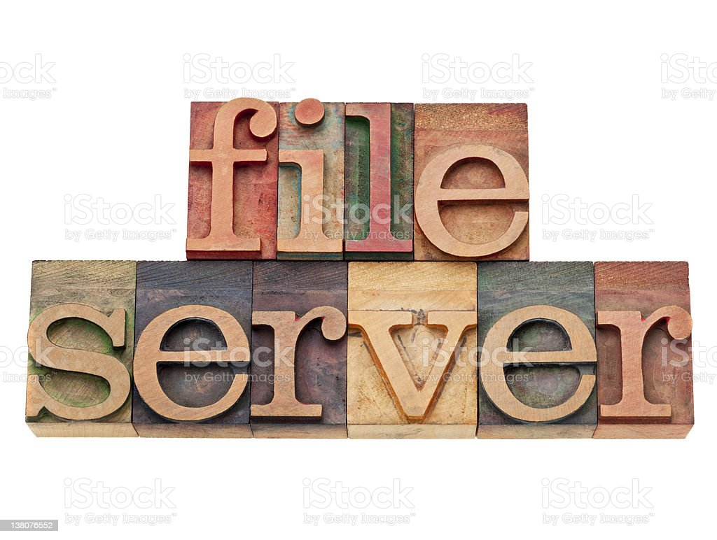 file server - computer network concept royalty-free stock photo
