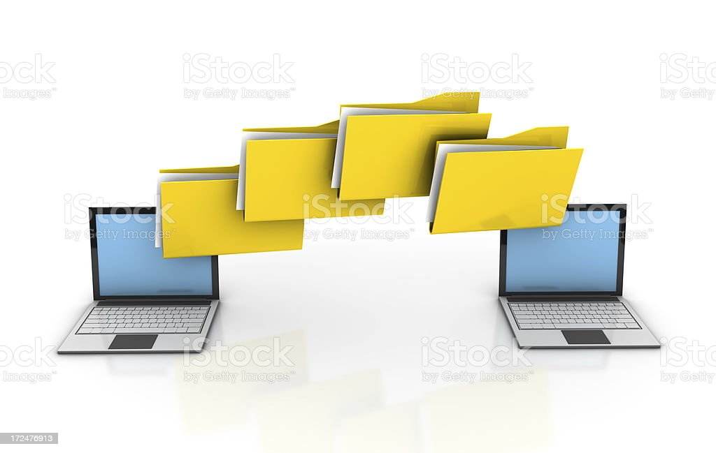 File Transfer stock photo