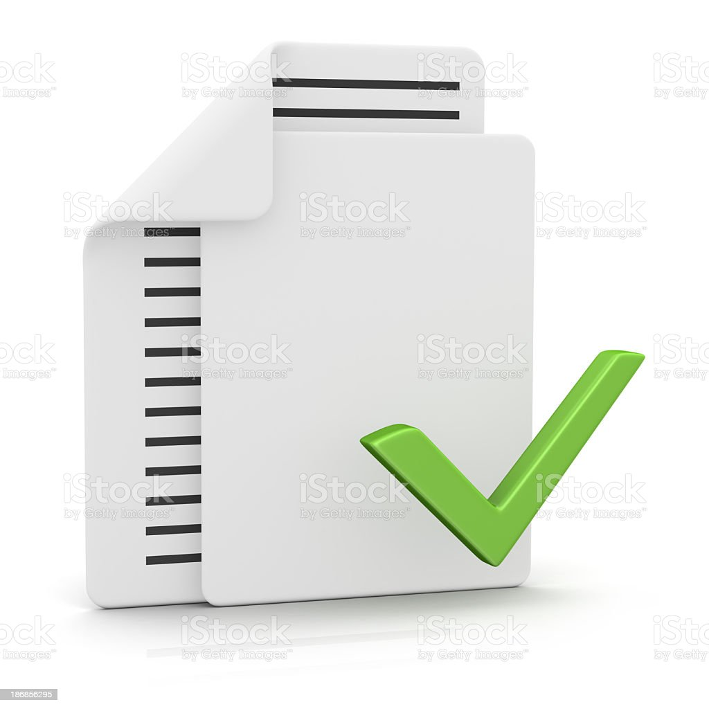 Files and Check Mark stock photo