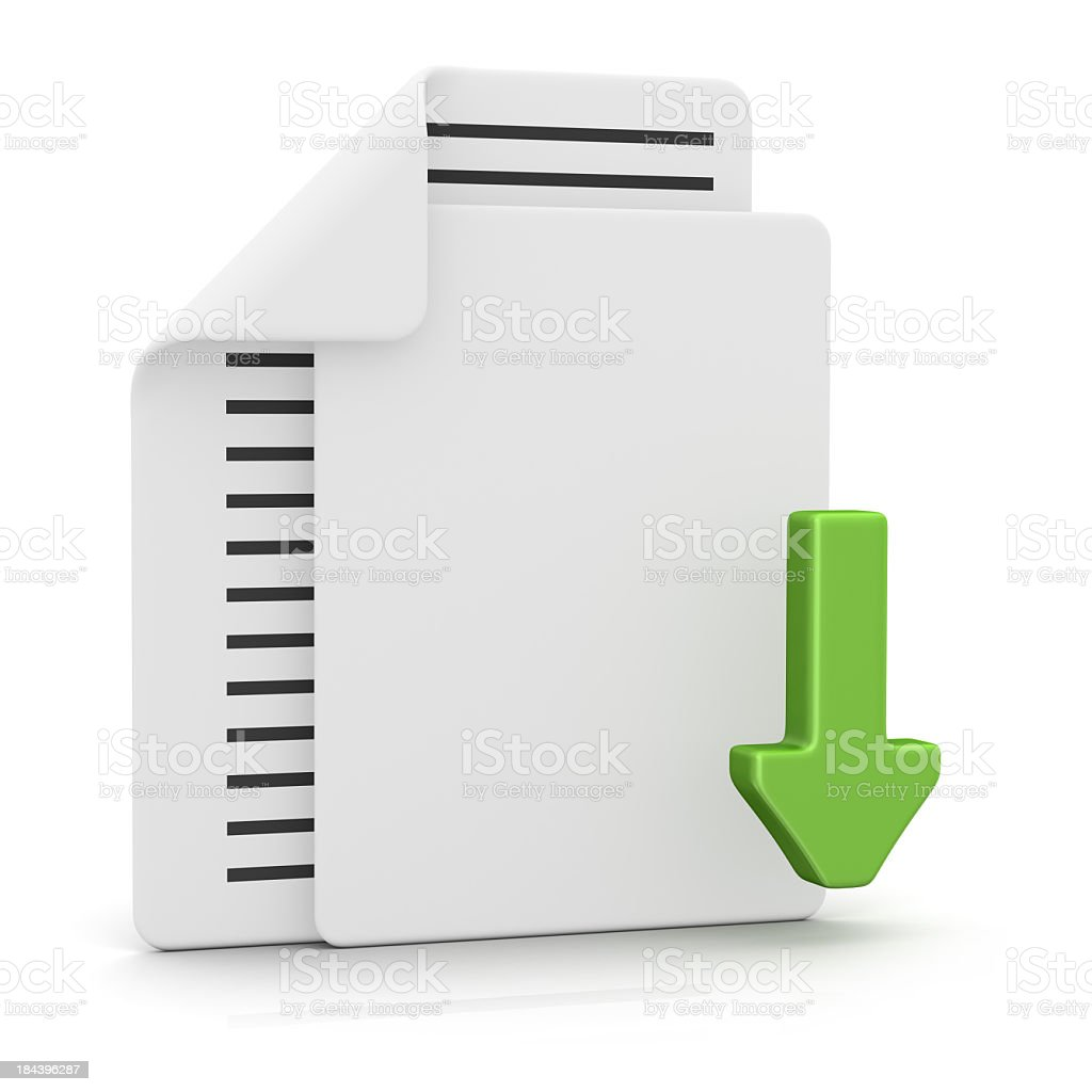 Files and Download stock photo