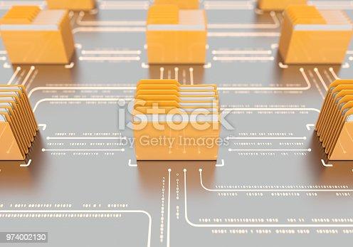 Folders communication with binary code